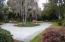 Circular drive-way and front yard view.