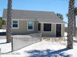 109 32nd St, Mexico Beach, FL, located on the Beach Side of Hwy 98. Only 45 steps to the beach.