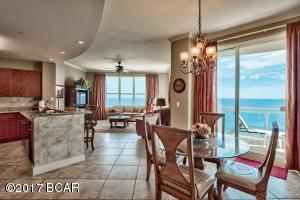 Desirable 3-bedroom, 3-bath East corner unit with 10 ft. ceilings and incredible panoramic views of the Gulf of Mexico.