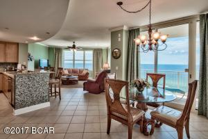 Desirable 3-bedroom, 3-bath East corner unit with 9 ft. ceilings and incredible panoramic views of the Gulf of Mexico.