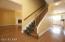 Stairwell, hardwood floors