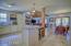 open floor plan with travertine marble floors