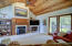 tongue & groove paneled ceiling
