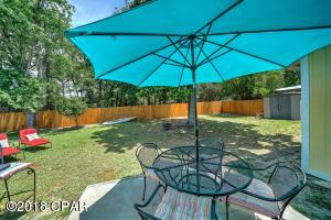 Large and fully fenced for privacy backyard
