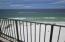 Beach looking over rail fm Balcony