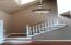 Foyer with wood laminate flooring
