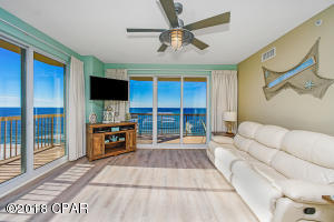 The large windows and sliders and the wraparound balcony allow you to fully enjoy the Gulf views of this east corner unit.