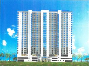 The front rendering of the Palace Sands