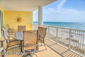 Ocean Ritz offers a unique plan that is ideal for two families. Two Master Suites plus the main living area open onto a 12' x 40' gulf front covered balcony! With two additional bedrooms and another full bath, this condo will accommodate 10 guests and offers strong rental income potential.