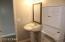 pedistal sink in hall bath