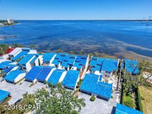 One of the most unique setting in all of Bay County. Uninterrupted big water views from your living area...