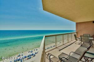 Step out from the living area or master bedroom onto the enormous wrap-around, private balcony to relax and take in the beautiful views of the beach and the Gulf of Mexico.