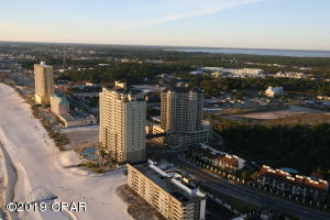 Aerial view looking Westerly. Top Floor End Unit. This photograph was borrowed from the Grand Panama Beach Resort official website.