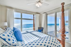 Spectacular views from the large windows and slider door that leads to the balcony. Wake up to breathtaking views of the sparkling emerald green waters of the Gulf and go to sleep to the peaceful sound of the waves.