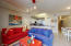 Living, kitchen and dining areas