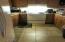 Tile floor in kitchen