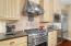 Gas top stove with range