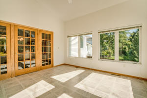 French doors in sunroom