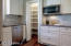 Walk in pantry conveniently located