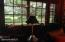 bay widow in living room