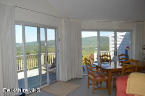 open living/dining with panoramic views