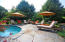 natural stone surrounding pool
