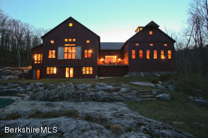 Twilight view of rear