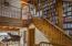 STAIRWAY WITH BUILT-IN BOOKSHELVES