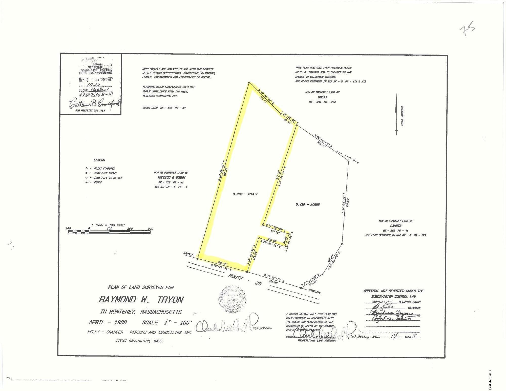 75 Main, Monterey, Massachusetts 01245, ,Land,For Sale,Main,222079