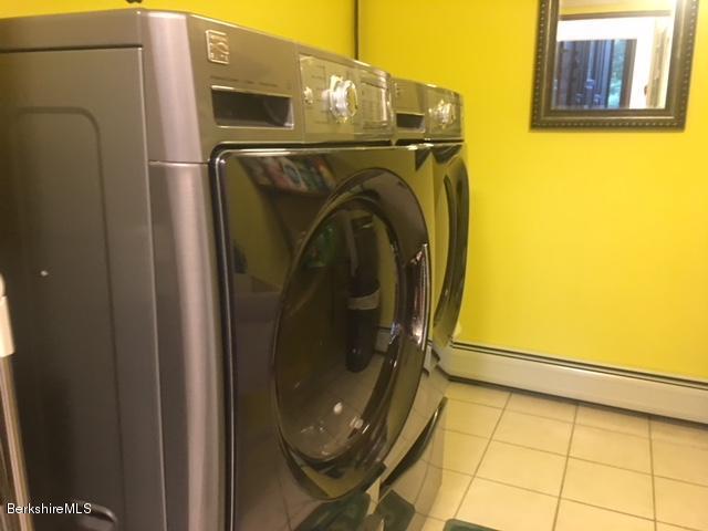 laundry with half bath