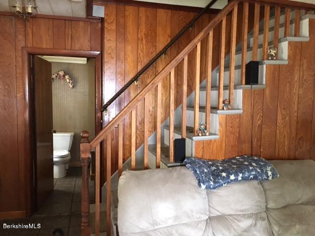 stairway in living room