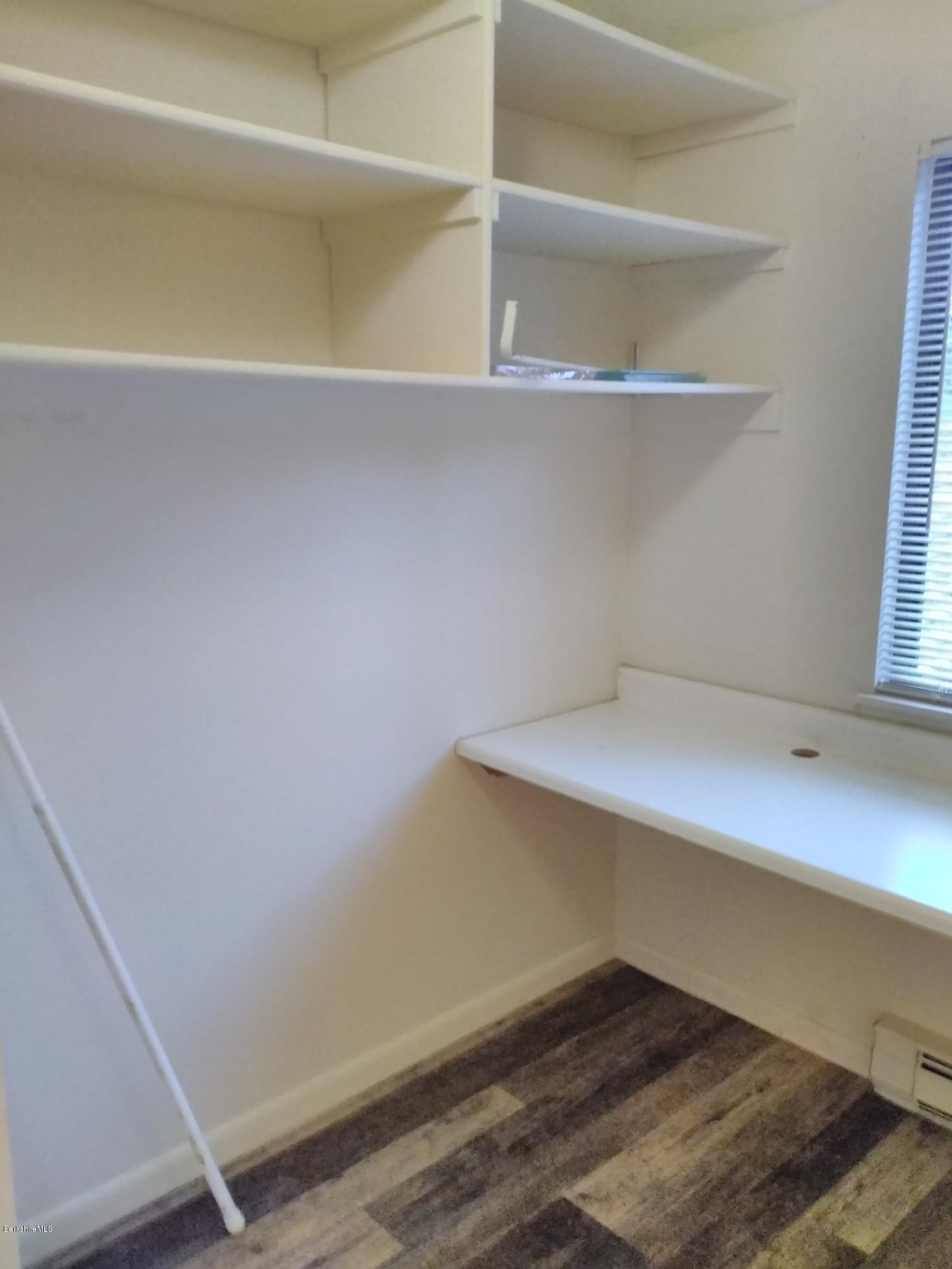 Master bedroom closet and work table