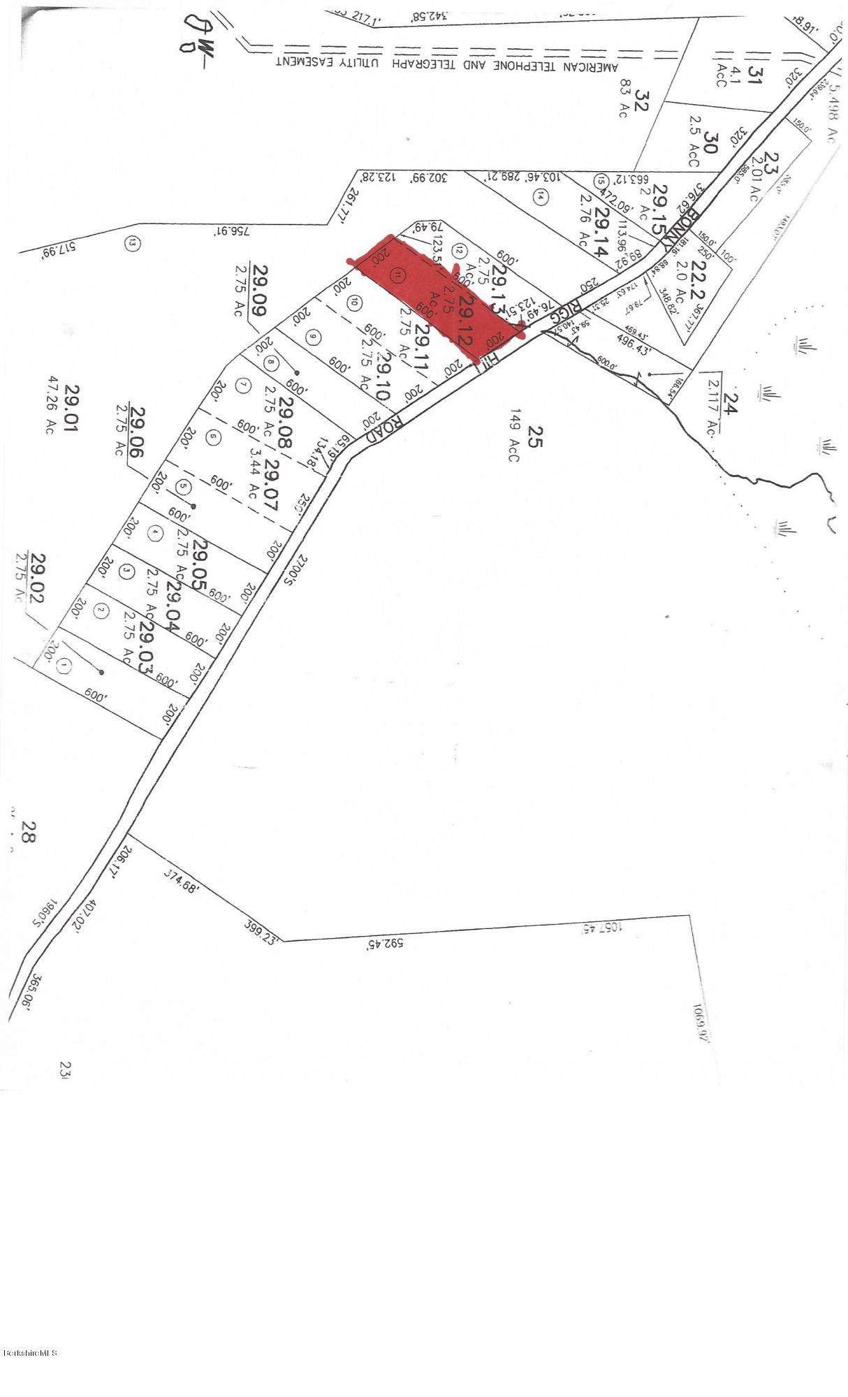 Lot 29.12 Bonny Rigg Hill Rd Becket MA 01223