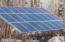 One of the solar arrays