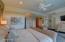 Gracious Master Bedroom Walk In Closets Private Door To Deck