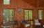 knotty pine paneling/ sun room