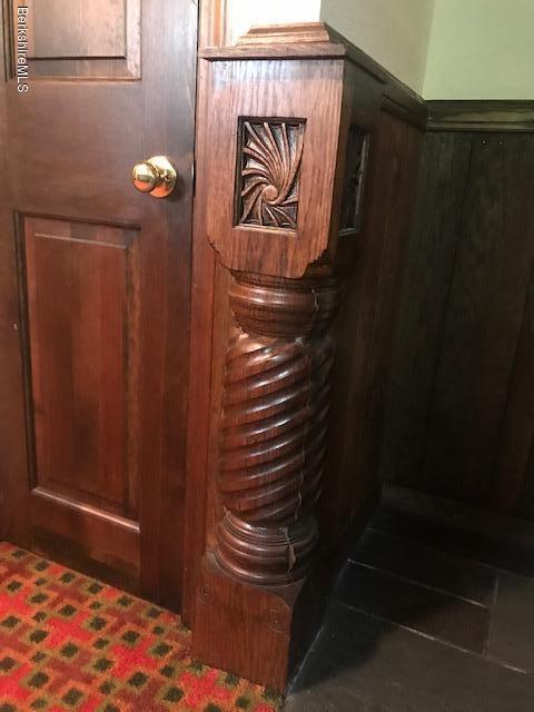 carved newel post