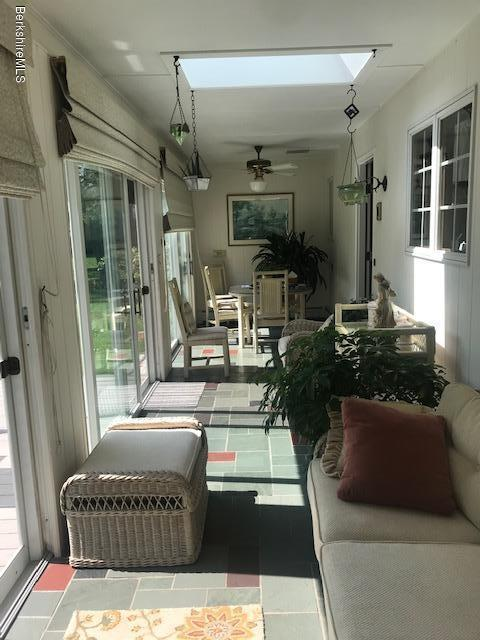 sunroom off kithen and living room