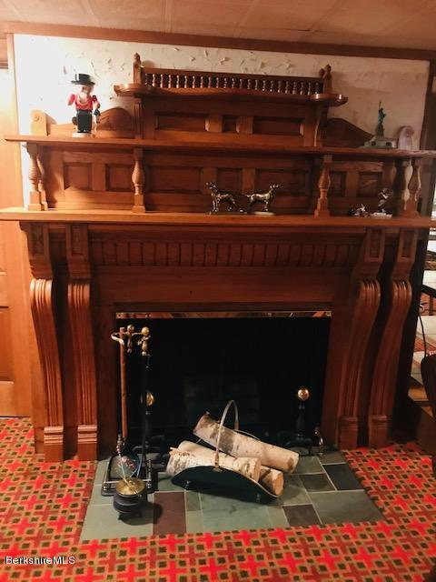 electric fireplace with gorgeous mantel