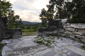 MARBLE STRUCTURE REMNANT AT SUNSET