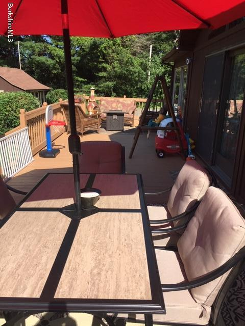 huge deck area