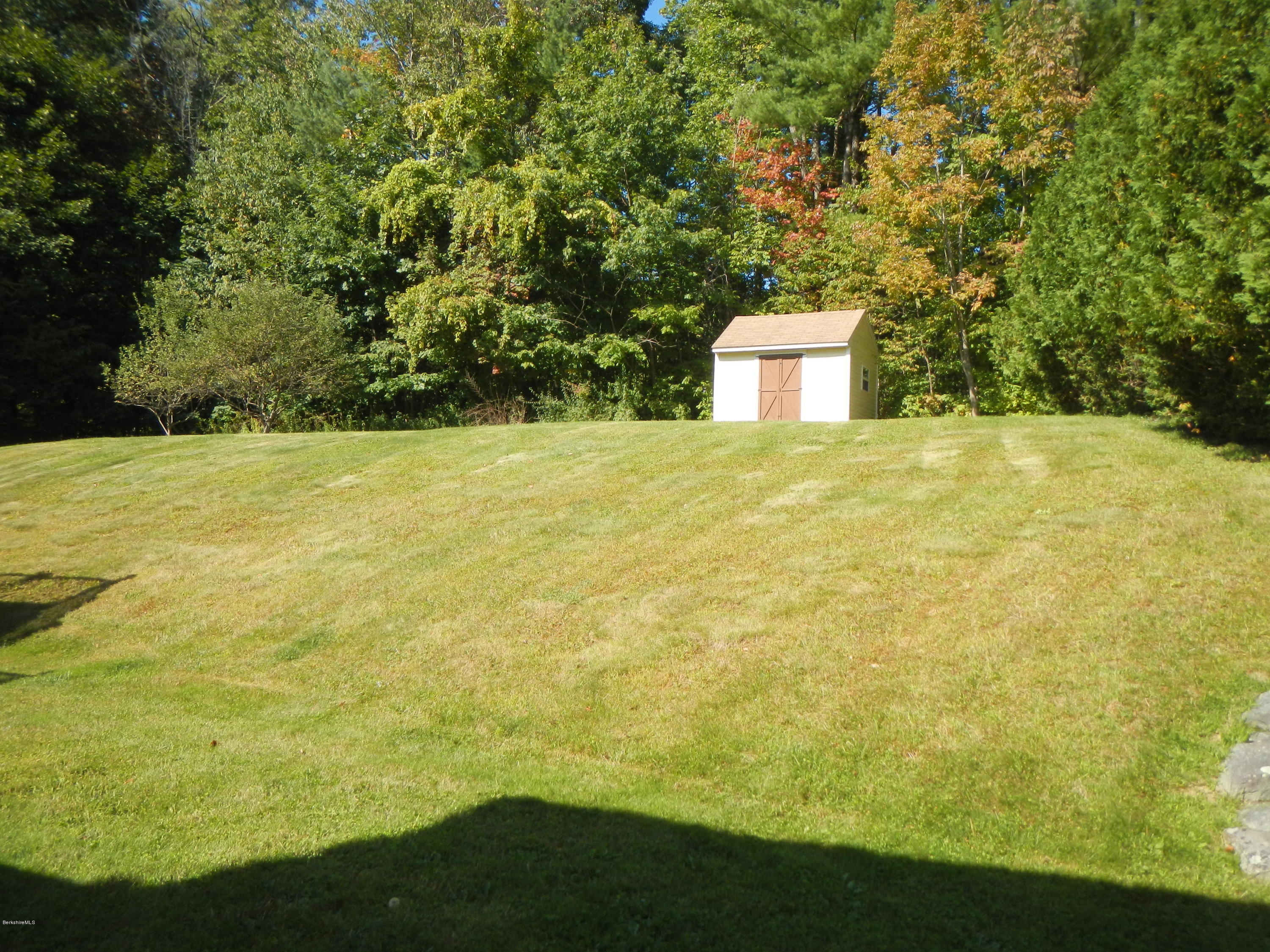 Back yard with shed.