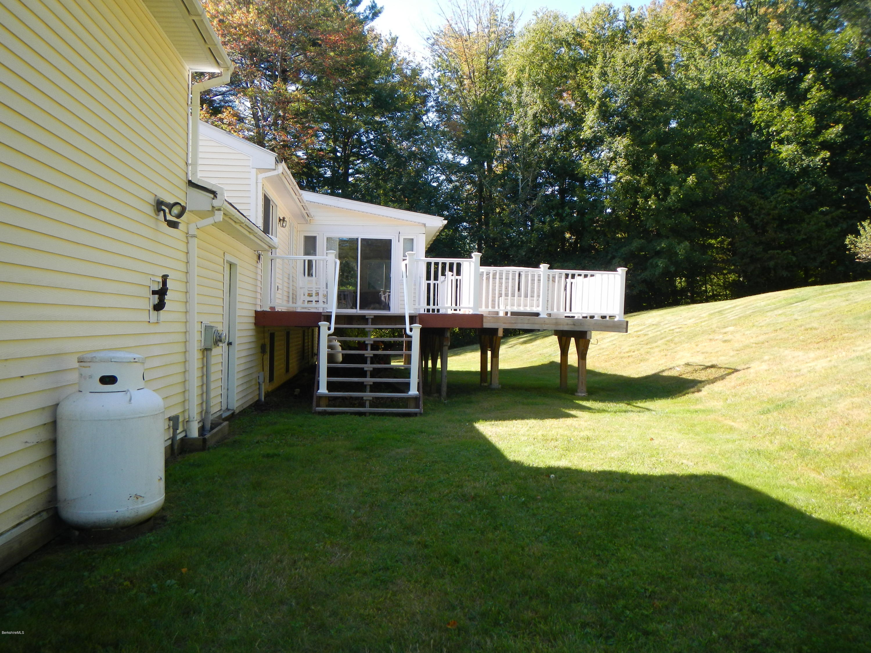Back yard with deck.