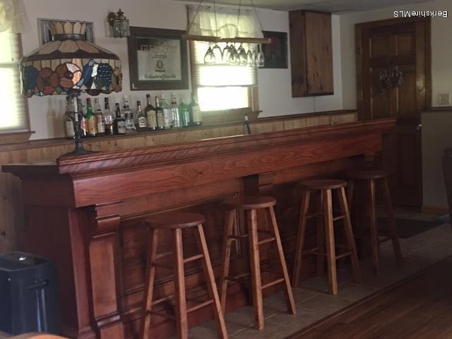 lower level bar in family room