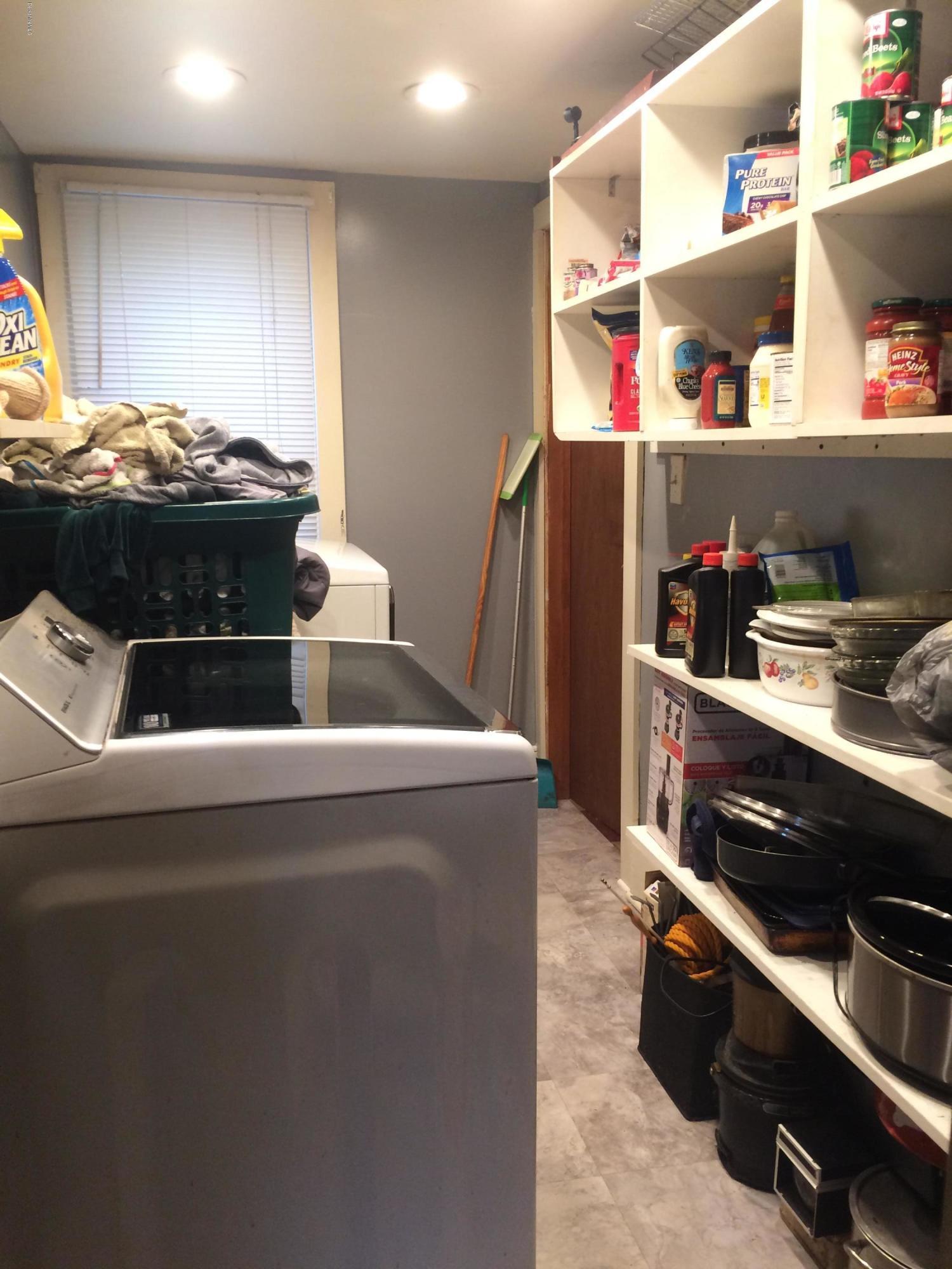 1st floor laundry room & pantry