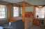 primary bedroom w vaulted ceiling