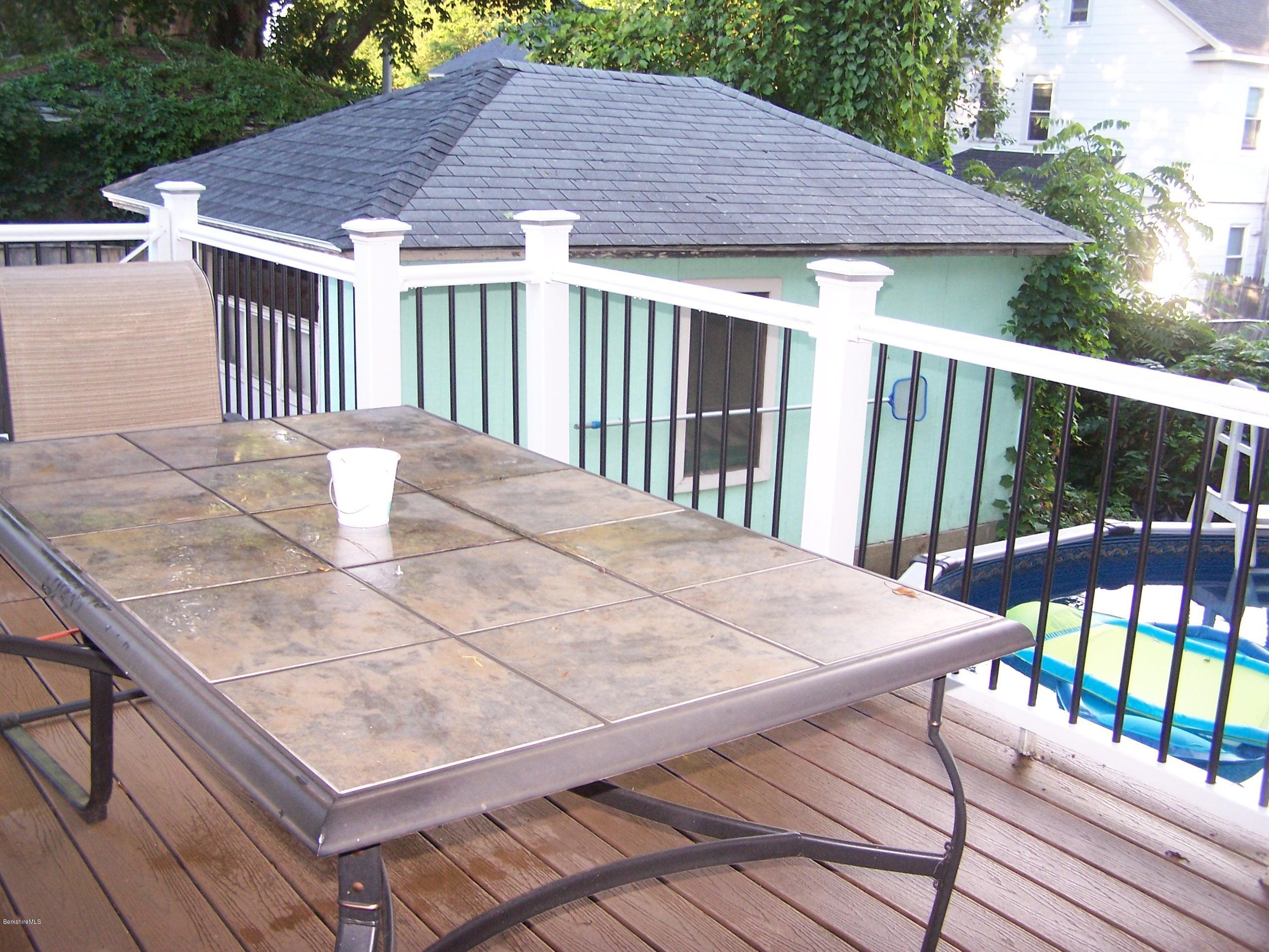 deck and garage