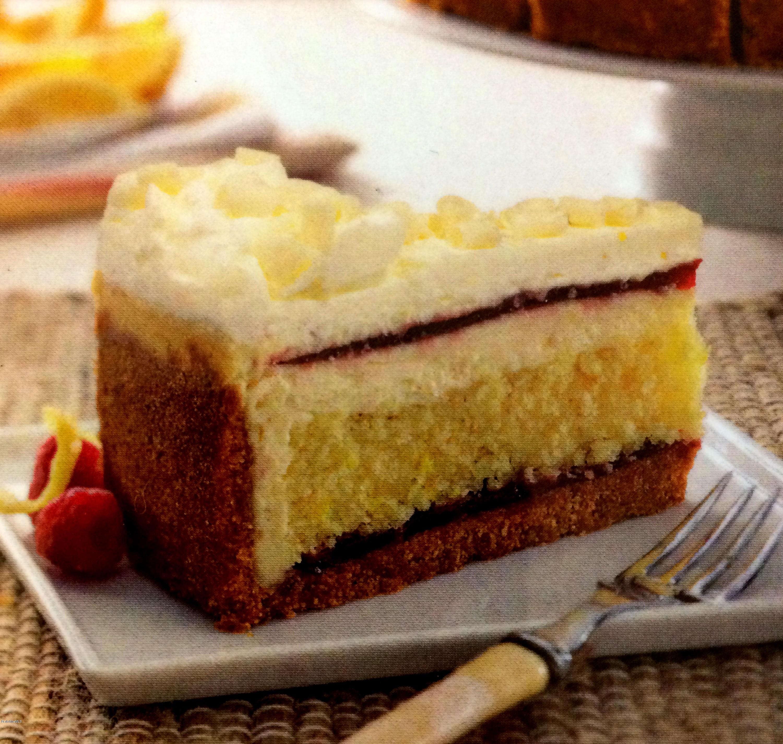 Lemon Rasberry Cheesecake Torte