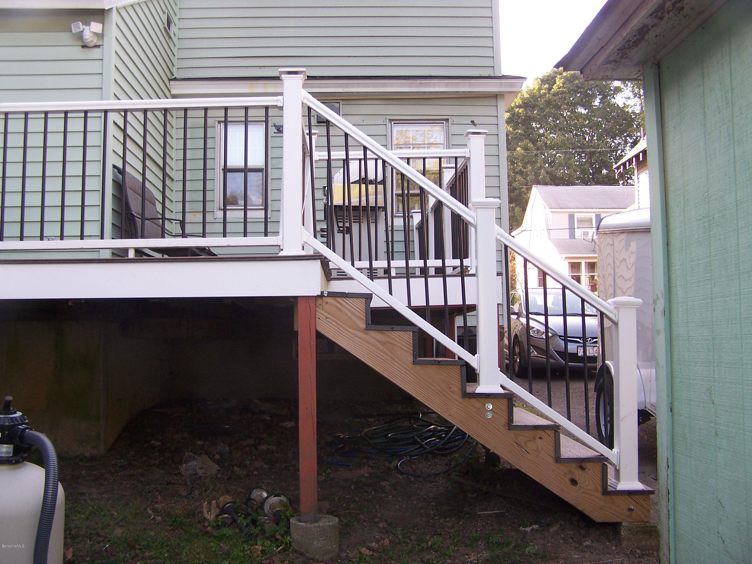 front of deck