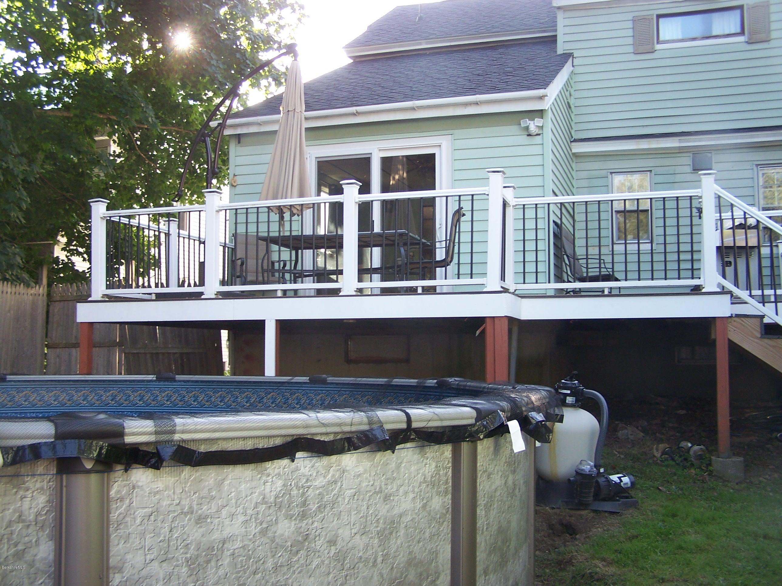 deck from yard